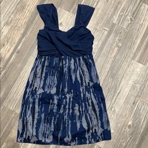 Converse strapless navy dress